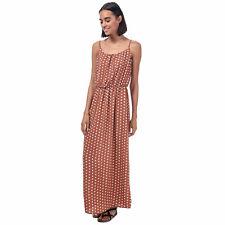 Womens Only Nova Lux Polka Dot Maxi Dress in ginger bread.