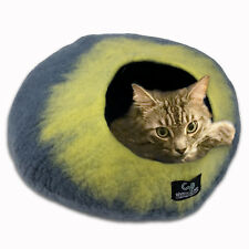 Walking Palm Cat Cave Bed - LARGE - Gray and Yellow Color FREE SHIPPING