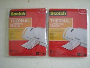 "2 x 20 Scotch Thermal Laminating Pouches 3.7"" x 5.2"""