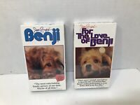 Lot Of 2 VHS Benji The Dog Movies Factory Sealed See Description