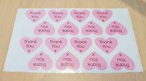 """""""Thank You"""" Heart Shaped Stickers"""