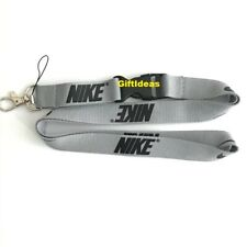 Nike Lanyard Detachable Keychain iPod Camera Strap Badge ID Gray