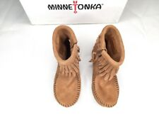 Minnetonka 8 Shoes Boots Girls Brown Leather