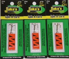 JAKE'S JAKES SPIN A LURE SPIN-A-LURE 1/4 oz SAL-NEO RED Trout Fishing 3 PACK