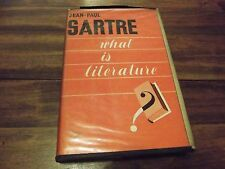 What Is Literature? by Jean-Paul Sartre (1949, Hardcover)