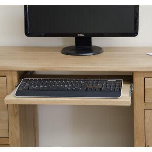 Arden large office PC computer desk workstation solid oak furniture