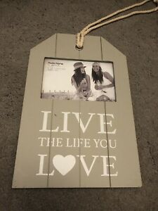 'Live The Life You Love' Hanging Photo Frame