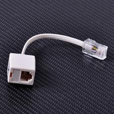 New Telephone RJ11 6P4C Female To Ethernet RJ45 8P8C Male Adapter Converter
