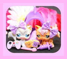 ��Authentic Littlest Pet Shop Lps #9 511 Longhair Angora Cat Kitty Carrier Lot��