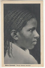 CARTE POSTALE AFRICA ORIENTALE DONNA ABISSINA MARITATA