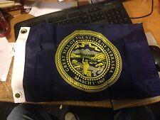"""New listing Nebraska- State Flag 12"""" x 18"""" Nylon Flag Made In Usa"""