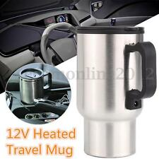 12V 450ml Stainless Kettle Car Cup Pot Water Heater With Cigar Lighter Cable