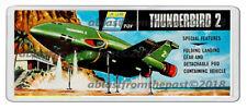 THUNDERBIRDS 2 JR 21 MODEL BOX ARTWORK NEW WIDE FRIDGE LOCKER MAGNET