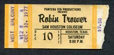 1977 Robin Trower Wishbone Ash concert ticket stub Houston Texas In City Dreams
