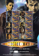 BC-119a - Doctor Who-The Doctor & MARTHA-Smilers STAMP SHEET (ONU-Numéroté)