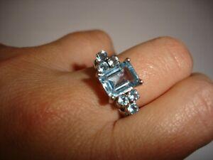 Sky blue Topaz dressing ring