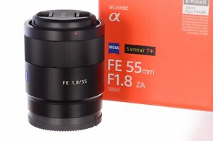 Sony 55mm f1.8 FE ZA, opened but unused, 6 month guarantee