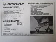 5/1971 PUB DUNLOP AVIATION CONCORDE AIRCRAFT TYRE PNEU AVION ORIGINAL FRENCH AD