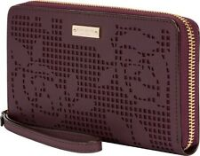 NEW Kate Spade New York Zip Wristlet Wallet & Universal Phone Case Rose Maroon