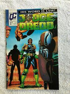 Judge Dredd #27 (Mar 1989, Quality) VG+ 4.5