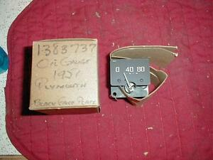NOS MOPAR 1951 PLYMOUTH OIL GAUGE CONCORD CAMBRIDGE CRANBROOK