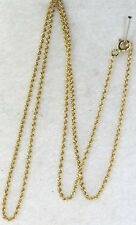 USED 14K GOLD 18 INCH LONG THIN TIGHT SOLID ROPE CHAIN NECKLACE