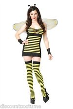 HOT STINGER HONEY BEE ADULT HALLOWEEN COSTUME WOMEN'S SIZE SMALL 5-7