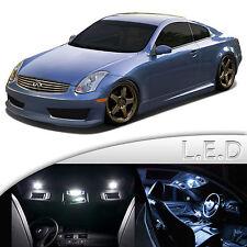 9 pcs Super White LED SMD Dome Map Interior Light Kit For Infiniti G35 Coupe