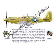 23 FG Maj John Herbst P-51B Mustang Giclee & Iris Prints by Willie Jones Jr.