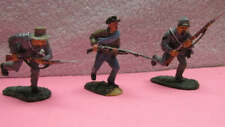 3 Grey Confederate American Civil War Painted Metal Soldiers by BRITAINS & CONTE
