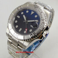 40mm BLIGER sterile black blue dial sapphire crystal automatic mens watch B287
