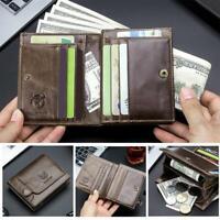 BULLCAPTAIN Bifold Short Wallet Men Clutch Casual Coin Purse Card Holder #k