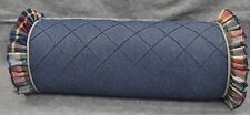 Pillow made w Ralph Lauren Garrison Madras Plaid & Denim Fabric  cord & ruffle