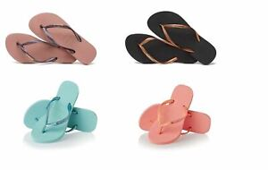 Havaianas Brazil Women`s Flip Flops Vary Colors Slim Met Logo Sandal All Sizes