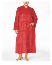 Charter Club Plus Size 2X Hooded Zip-Front Robe Candy Red Supersoft New