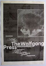 THE WOLFGANG PRESS 1995 Poster Ad FUNKY LITTLE DEMONS 4AD