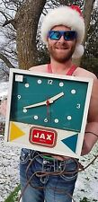 Vintage early Jax Beer Light up clock metal Glass Sign WORKS! Texas Lone Star
