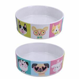 Small Decorative Mason Cash Pawtrait Food Water Dog Bowl Dog Gift 15x5cm