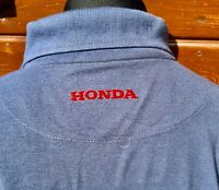Superb Honda TT Long-Sleeved Sweatshirt Polo Grey/Red Polycotton Motorsport XL