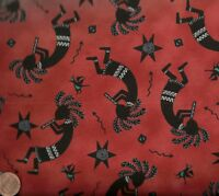 Tucson terracotta southwestern kokopelli Elizabeth Studio fabric