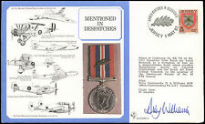 Jersey 1987 RAF DM16 Mentioned Despatched Medal Flown Signed Cover #C24926
