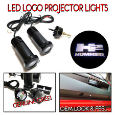 2Pc Lumenz 100653 WHITE LED Logo Projectors Ghost Shadow Lights HUMMER H2