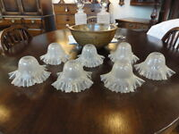 Set Of 7 Glass Shades