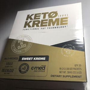 Pruvit Keto Kreme New 20 Packets Sweet Kreme Bullet Coffee Creme Ketones MCT