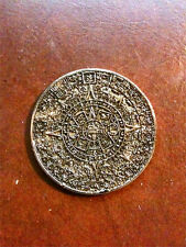 Ancient Mayan, Aztec, Inca Calendar Coin, Gold, Metal