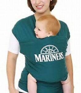 Moby Wrap MLB Edition Soft & Comfortable Baby Carrier One Size Seattle Mariners