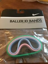 Nike Youth Baller ID Bands Wristbands Bracelets New In Package Pink Baby Blue