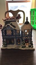 PARTYLITE-The Night Before Christmas MUSICAL Tealite House-Opens-Music-Candle-NE
