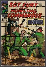 """SGT. NICK FURY AND HIS HOWLING COMMANDOS #57 MARVEL 1968 """"THE INFORMER!"""" VG/FN-"""