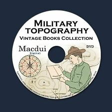 Military Topography Vintage Books Collection 32 PDF E-Books on 1 DVD Map Reading